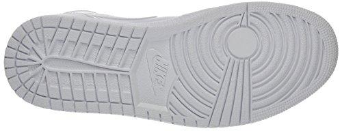 Nike, Air Jordan 1 Mid, Sneaker, Uomo Bianco (White/pure Platinum White)