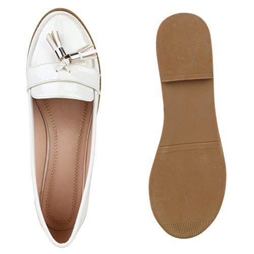 ... Damen Lack Slipper Quasten Tassel Loafers Business Schuhe Weiß