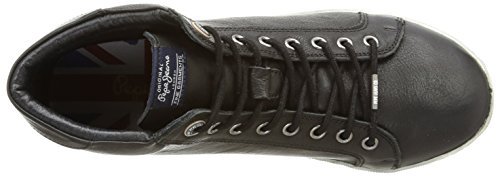 Pepe Jeans London William Basic, Baskets mode homme Noir (999Black)