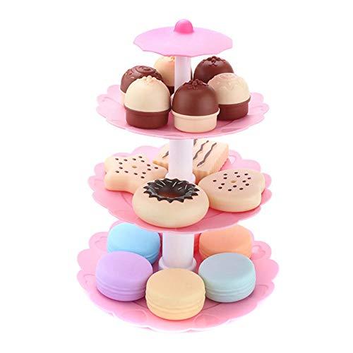 ZREAL Küchengeräten/Set Cake Tower Mini Cookie Food Set Kunststoff Küche Spielzeug Kinder Pretend Play Geburtstag Geschenk