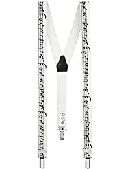 Xeira® Bretelles de haute qualité avec 3 Clips fort de 35mm dans 15 Design - Fabriqué en Allemagne - USA, Bier, Musique, Wallstreet, Alpes, Edelweiss, Enzian, Artisan, Bavière, Oktoberfest Design