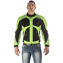 Chaqueta de moto textil para hombres,AGV Airy Textile Jacket (XXL, Fluorescente verde/negro)