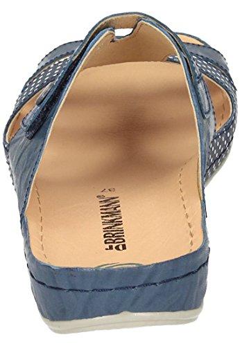 Femmes Mules blau bleu, (blau) 701032 Blau