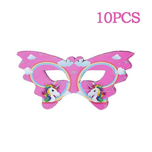10pcs Unicornio Máscara De Ojo De Fiesta De Cumpleaños