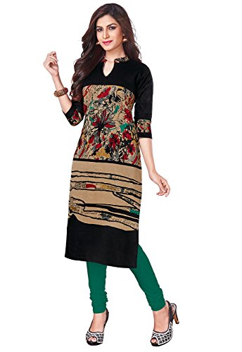 Ishin Cambric Cotton Black Printed Party Wear Wedding Wear Casual Daily Wear...
