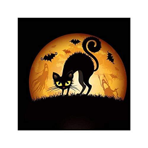 s DIY Halloween-Mädchen Cat Spinne Owl Painting-Kreuz-Stich-Diamant-Stickerei-Näharbeit-Geschenk Bürodekoration ()