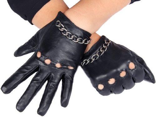 calonice-amorino-gants-de-conduite-courts-noir-avec-chaine-en-mtal-argent-en-cuir-de-mouton-et-doubl
