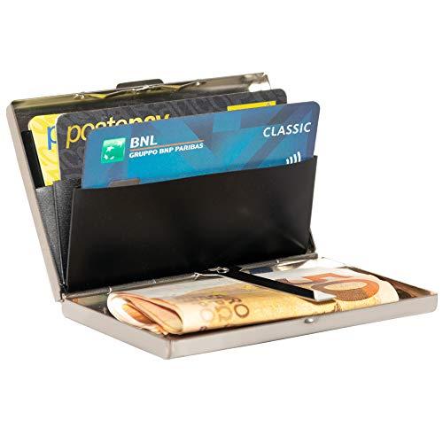 b8eab62a2c Portafoglio e Porta carte di credito schermato rfid nfc uomo, Portacarte e  banconote piccolo, portafogli e Idee regalo porta documenti