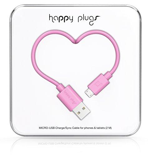 Happy Plugs Deluxe cavo Micro USB a USB Cavo di ricarica, cavo dati Sync  compatibile con Android, Blackberry e Windows Smartphone, Tablet, lettori  MP3