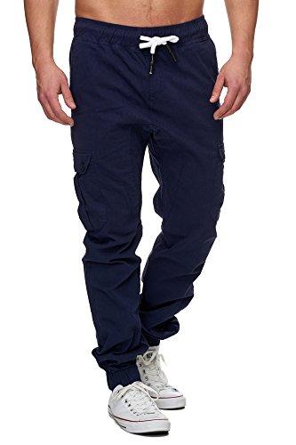 TAZZIO Styler Chino-Hose ChiNoHose Cargo-Hose Slim Fit 16610 Navyblau