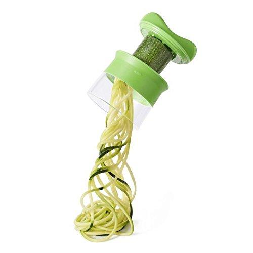 Coupe-légumes spirale et coupe-fruits portatif ultra compact Trancheuse, Hachoir, Ustensile de cuisine compatible au lave-vaisselle - Vert