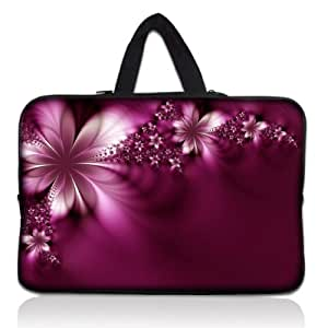 "Fleurs violet 15 ""/ 15.4""/15.5 ""/ 15.6"" laptop, netbook manches étui de protection sac convient pour hP pavilion dv6/apple macBook pro et ordinateurs portables acer aspire 5735/sony vaio e-serie/samsung rV510"