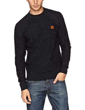 Bench Kulter Men's Jumper Dark Navy Blue Marl XX-Large