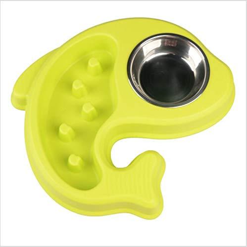 MR.MO Dog Cat Bowl, Edelstahlschüsseln, zylindrisches Design, Cartoon-Stil, Fischform, hochwertiges PP-Material, niedlich und anziehbar, DREI Farben