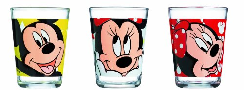 Luminarc, Serie Minnie Mouse, Trinkbecher 3er-Set, mit farbenfrohem Design