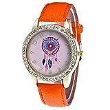 Zhou Lianfa Diamond Watch - Reloj de pulsera para mujer naranja