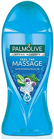 Palmolive Body Wash Feel the Massage, 250ml Bottle, Exfoliating Shower Gel with 100% Natural Thermal Minerals
