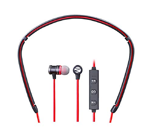Zebronics - Flex Bluetooth Magnetic Headset with Mic for Android Phones & Tablets (Red)