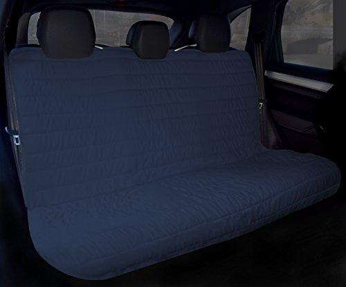 Elegant Coprisedile Posteriore per Auto 130x140cm con elastici blu scuro/grigio chiaro