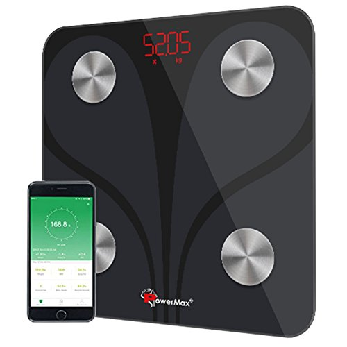 Powermax Smart Body Composition Analyzer BCA-130 Bluetooth Weight Scale - Measures Weight, BMI, BMR, Body Fat & 9 Other via Android & iOS App