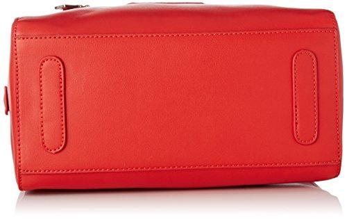 Lecca Lecca Damen Bunglea Bowling Schultertasche, 15x20x28 Centimetri Marciume (rosso)