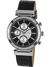 Jacques Lemans 1-1699A - Reloj cronógrafo de cuarzo para hombre con correa de piel