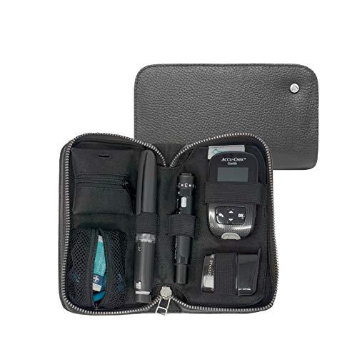 COMPACT mysugarcase - Estuche porta diabetes premium - GRIS