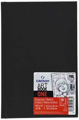 Canson 200005568 Art Book One 14 x 21.6 cm, weiß 98 sheets