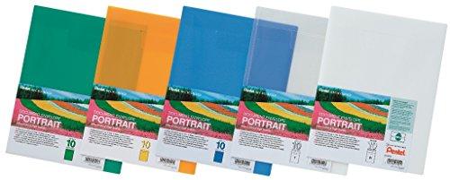 Pentel Confezione di 10 Buste Trasparenti per documenti, Formato A4 verticale