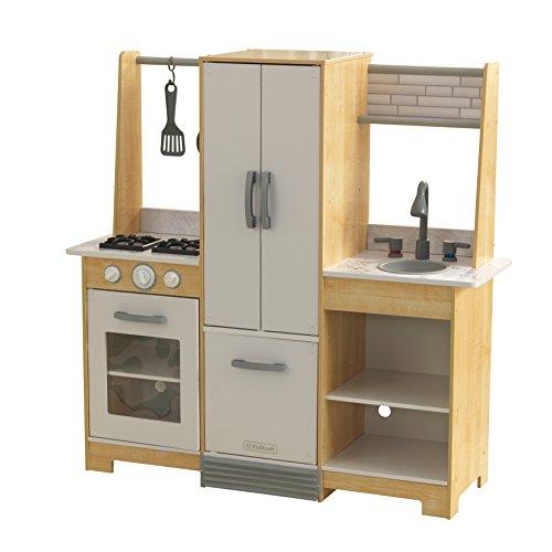 KidKraft 53423 Cocina de juguete Modern-Day de madera para niños con EZ Kraft Assembly™ con accesorios de juego incluidos