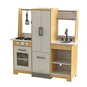 KidKraft 53423 Cocina de juguete Modern-Day de madera para niños con EZ Kraft AssemblyTM con accesorios de juego incluidos