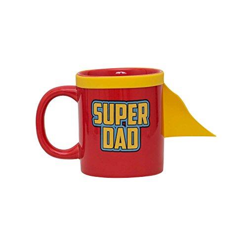 r Dad Mug-inklusiv Superheldenumhang, Keramik, rot, 0 cm ()