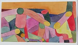GFM Painting Handmade Oil Painting Reproductions of (Untitled) Colour Composition C1914 (WC and Pencil on Paper) (Contemporary Art),Oil Painting by Paul Klee - 12 By 16 inches