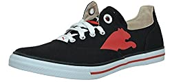 Puma Mens Limnos CAT Ind. Black and High Risk Red Mesh Boat Shoes - 4 UK/India (37 EU)