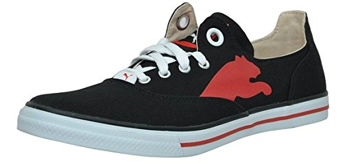 Puma Men's Limnos CAT Ind. Black and High Risk Red Mesh Boat Shoes - 4 UK/India (37 EU)  available at amazon for Rs.1399