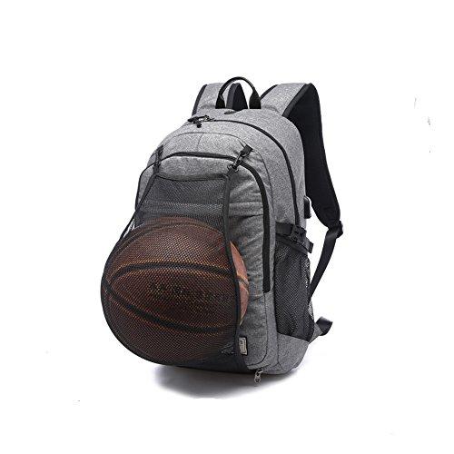 Imagen de  para portátil de negocios por dailystar, 15.6inch colegio  con usb puerto de carga, antirrobo bolsa de viaje ligero para hombres y mujeres gris gray02