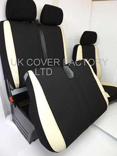 SINGLE DRIVER + DOUBLE PASSENGER VW CRAFTER SEAT COVERS 2010 FRONT SET