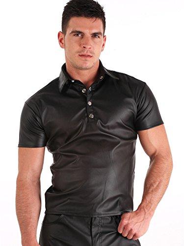 Preisvergleich Produktbild Kunstleder Polo-Shirt für Männer