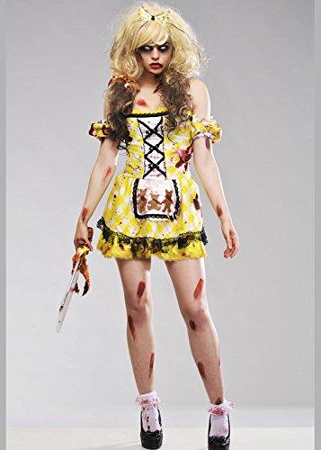 Womens Gothic Zombie Goldilocks Kostüm Medium (UK (Kostüme Erwachsene Goldilocks)
