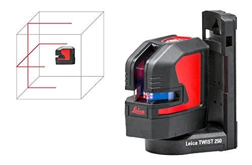 """Leica Lino L2 Nivel de línea 25 m 635 nm (< 1 mW) - Nivelador láser (Nivel de línea, Negro, Rojo, 1/4,5/8"""", IP54, 25 m, 0,2 mm/m)"""