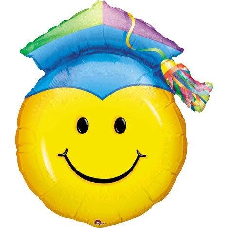 PALLONE MINI SHAPE SMILE CON CAPPELLO LAUREA 35X27 CM