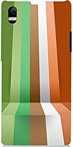 Snoogg 3D Layer Lines 2392 Case Cover For Sony Xperia L 39