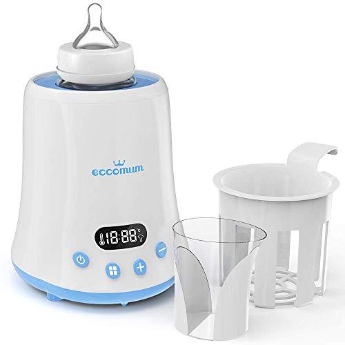 Flaschenwärmer baby Eccomum Sterilisator für Flaschen-und Babykostwärmer, schnelle Erwärmung, mit LCD Bildschirm/ Ernährungsschutz-Technologie/Erinnerungsfunktion, Passend für alle Babyflaschen