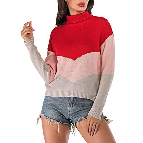 Epigeon Strickpullover Damen Damen Casual Langarm Pullover Bluse Tops Sweater -