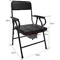 Comò Comodini seduta sedia metallizzazione anziani donne incinte toilette portatile pieghevole sedia pieghevole Commode con