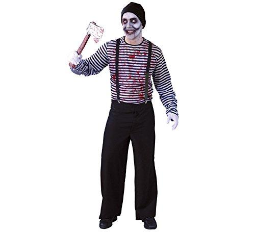 Mörder Pantomime Halloween Kostüm für Herren Halloweenkostüm Blutig Gr. M/L, (Blutige Mörder Kostüm)