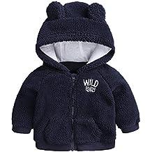 Yying Neonato Vestiti Autunno Inverno Caldo Cappotto Cappuccio per 3-18m Toddler Baby Boy Girls Cartoon Orso Capispalla