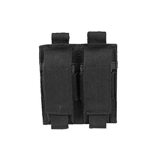 Miltec Porte chargeurs Double pour Pistolet Noir (Fixation Molle) Adulte Unisexe, Taille Unique