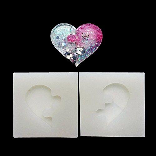 September-europe gioielli di perline casting mould, diy handmade stampo in silicone, stampo per resina, trasparente cristallo, quadrato, a forma di cuore regalo