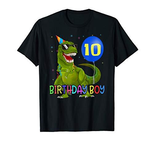10 Jahre T-Rex Dino Junge 10. Geburtstag T-Shirt Geschenk